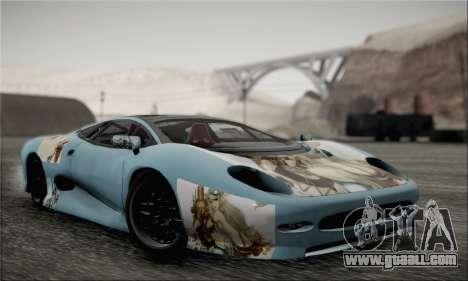 Jaguar XJ220S Ultimate Edition for GTA San Andreas inner view