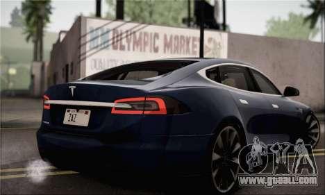 Tesla Model S 2014 for GTA San Andreas left view