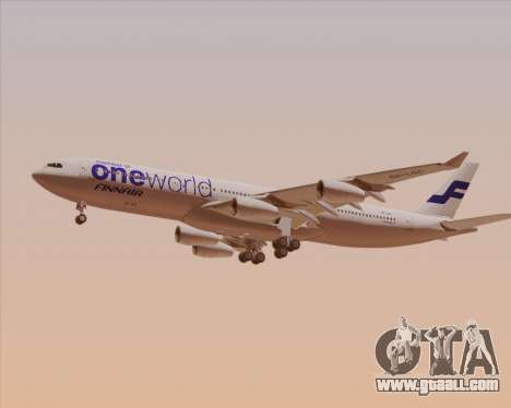 Airbus A340-300 Finnair (Oneworld Livery) for GTA San Andreas back left view