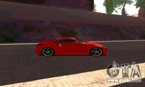 Nissan 350Z Tune for GTA San Andreas back left view