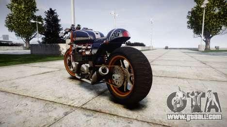 Honda CB750 cafe racer for GTA 4 back left view