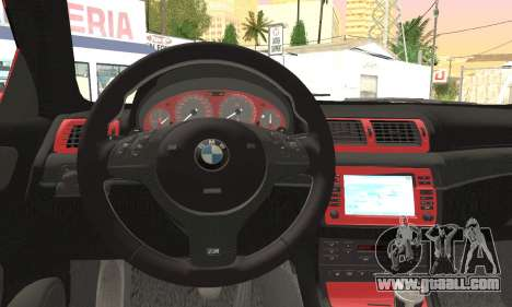BMW M3 Coupe Tuned Version Burnout for GTA San Andreas right view