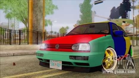 Volkswagen Golf Mk3 Harlequin Design for GTA San Andreas