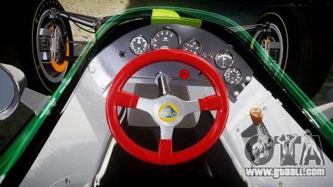 Lotus 49 1967 green for GTA 4 back view