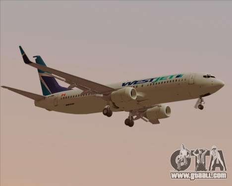 Boeing 737-800 WestJet Airlines for GTA San Andreas right view