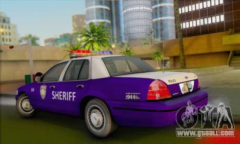 Ford Crown Victoria 1999 Walking Dead for GTA San Andreas left view