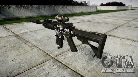 Автомат P416 ACOG silencer PJ3 target for GTA 4 second screenshot