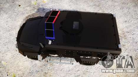 SWAT Van Metro Police [ELS] for GTA 4 right view