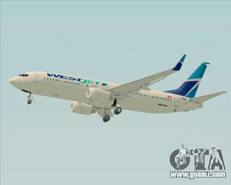 Boeing 737-800 WestJet Airlines for GTA San Andreas upper view