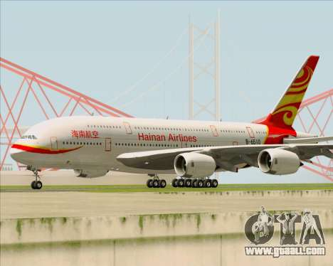 Airbus A380-800 Hainan Airlines for GTA San Andreas left view
