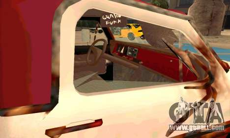 Ford PickUp Rusted for GTA San Andreas inner view