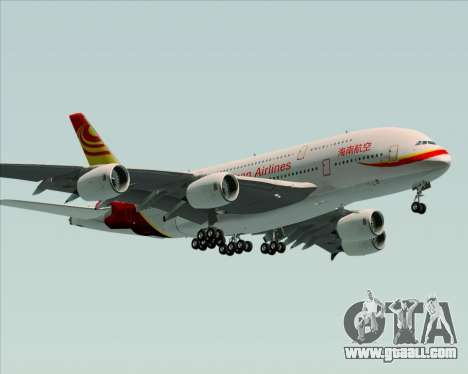 Airbus A380-800 Hainan Airlines for GTA San Andreas side view