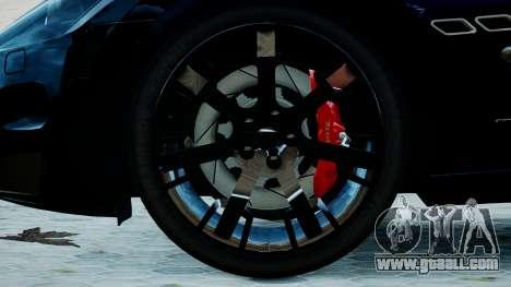 Maserati Granturismo 2012 for GTA 4 back left view