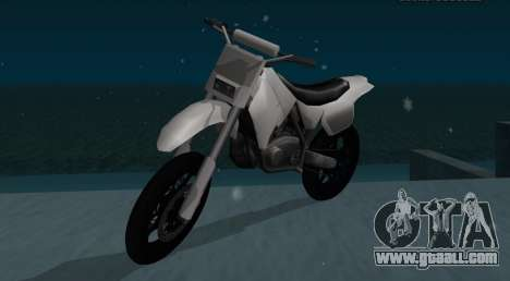 Sanchez SuperMoto for GTA San Andreas back left view