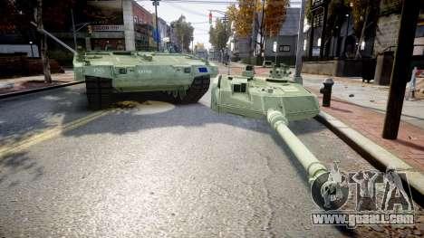 Leopard 2A7 EU Green for GTA 4 back view