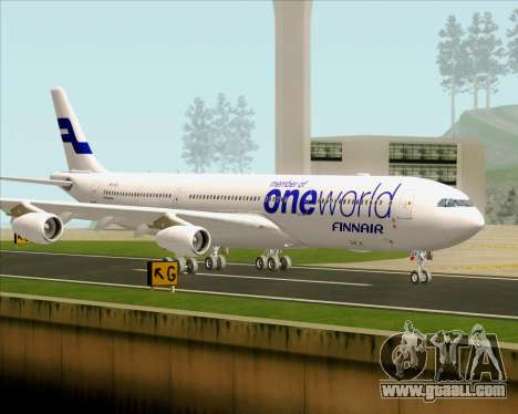 Airbus A340-300 Finnair (Oneworld Livery) for GTA San Andreas upper view