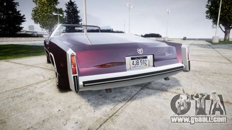 Cadillac Eldorado 1978 for GTA 4 back left view