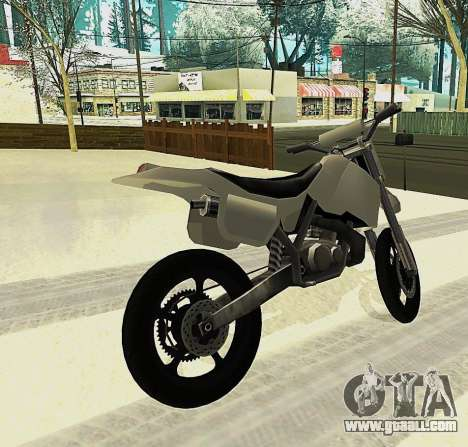 Sanchez SuperMoto for GTA San Andreas left view