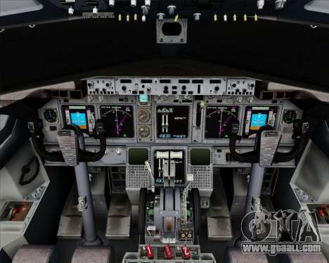 Boeing 737-800 House Colors for GTA San Andreas interior