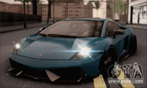 Lamborghini Gallardo Superleggera 2011 for GTA San Andreas