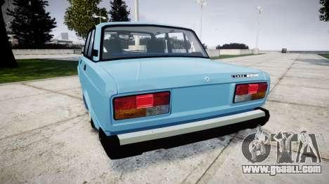 VAZ-2107 best model for GTA 4 back left view