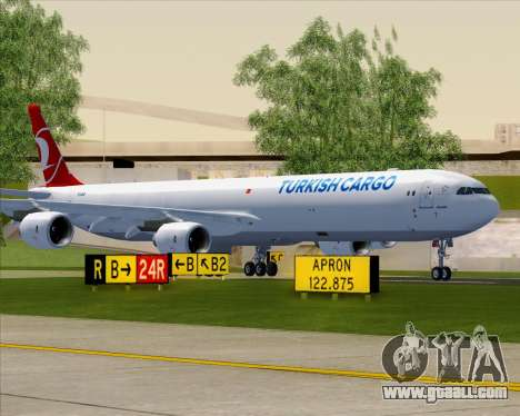 Airbus A340-600 Turkish Cargo for GTA San Andreas upper view