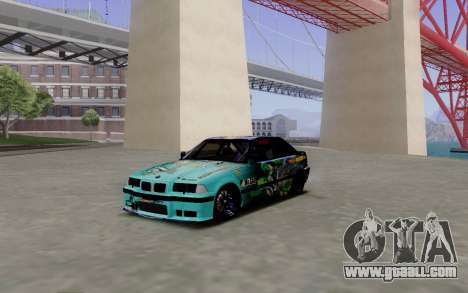 BMW M3 E36 Gorilla Energy Team for GTA San Andreas left view