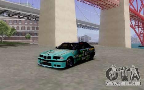 BMW M3 E36 Gorilla Energy Team for GTA San Andreas left view