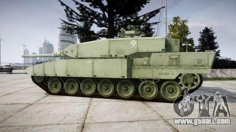 Leopard 2A7 EU Green for GTA 4 left view