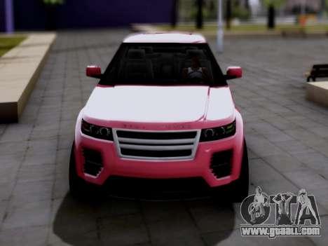 GTA V Gallivanter Baller II for GTA San Andreas back left view