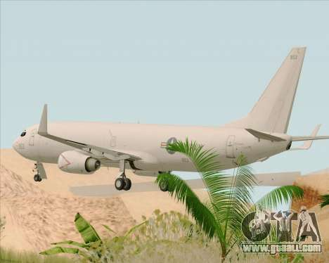 Boeing P-8 Poseidon US Navy for GTA San Andreas back left view
