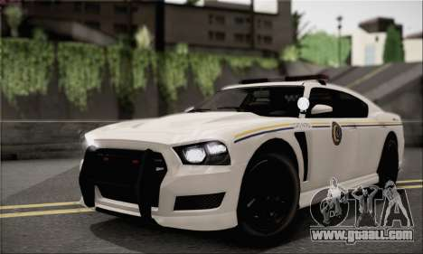 Bravado Buffalo S Police Edition (HQLM) for GTA San Andreas back view