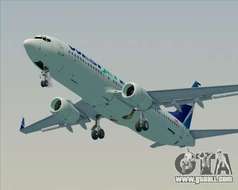 Boeing 737-800 WestJet Airlines for GTA San Andreas engine