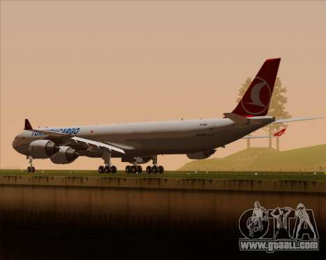 Airbus A340-600 Turkish Cargo for GTA San Andreas wheels