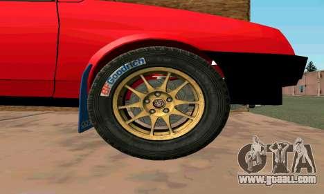 VAZ 2108 for GTA San Andreas inner view
