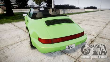 Porsche 911 (964) Cabrio for GTA 4 back left view