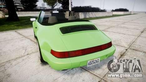 Porsche 911 (964) Cabrio for GTA 4 back left view