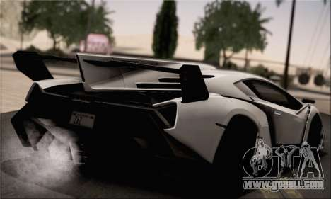 Lamborghini Veneno LP750-4 White Black 2014 for GTA San Andreas left view