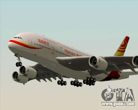 Airbus A380-800 Hainan Airlines for GTA San Andreas back left view