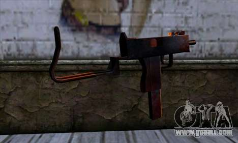 Micro Uzi v2 Rusty-bloody for GTA San Andreas second screenshot