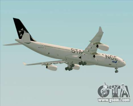 Airbus A340-300 All Nippon Airways (ANA) for GTA San Andreas right view