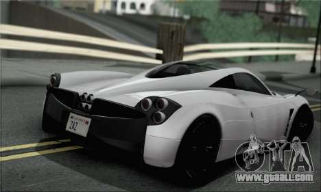 Pagani Huayra TT Ultimate Edition for GTA San Andreas left view