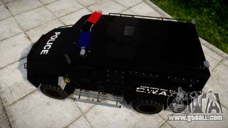 SWAT Van for GTA 4 right view