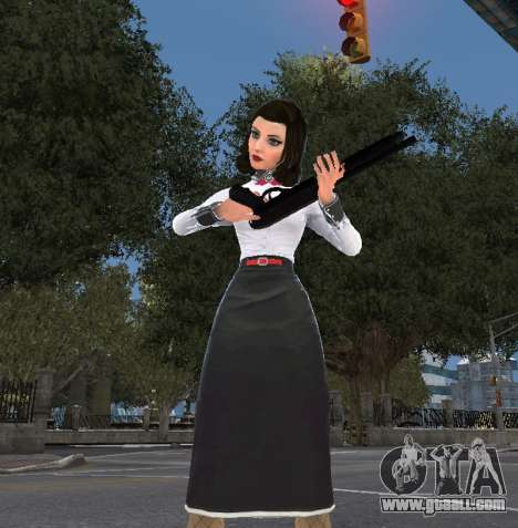 Elizabeth from Bioshock Infinite: Burial At Sea for GTA 4 third screenshot