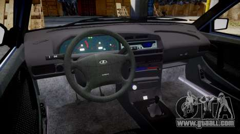 VAZ-2114, Lada Samara 2014 for GTA 4 inner view