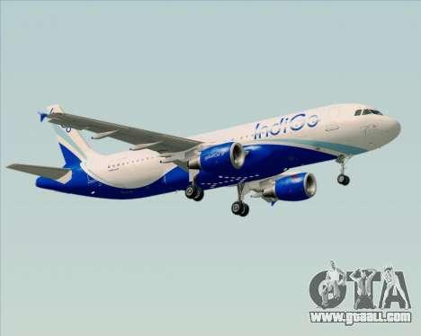 Airbus A320-200 IndiGo for GTA San Andreas wheels