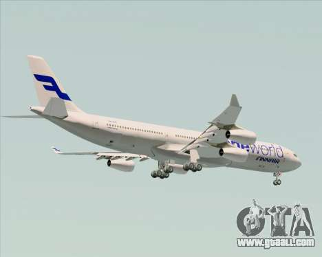 Airbus A340-300 Finnair (Oneworld Livery) for GTA San Andreas side view