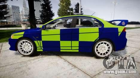 Mitsubishi Lancer Evolution X Police [ELS] for GTA 4 left view