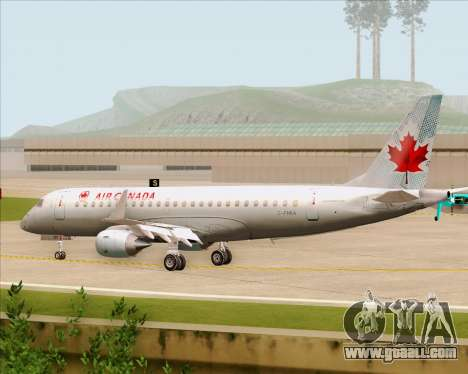 Embraer E-190 Air Canada for GTA San Andreas back view