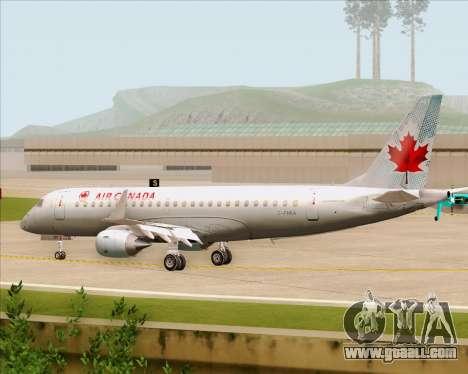 Embraer E-190 Air Canada for GTA San Andreas back view
